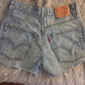 One of a kind denim Levi shorts